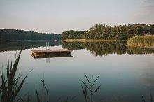 Platform floating on a lake
