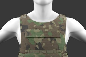 Military Woodland Tactical Vest