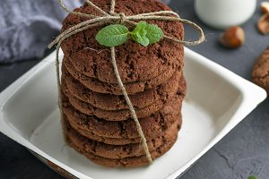 round chocolate biscuits