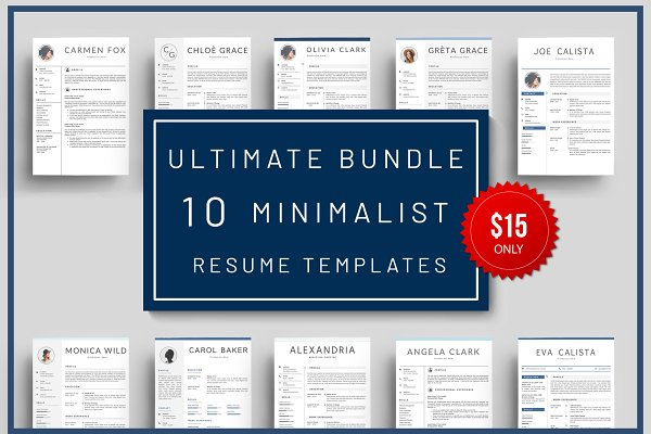 Super Bundle 10 Resume Templates