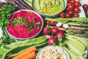 Healthy raw summer vegan snack plate for vegetarian party