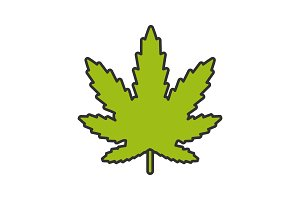 Marijuana leaf color icon