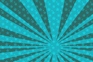 pop art blue star background