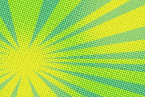 green yellow pop art background