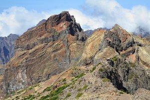 The peak of Madeira Island
