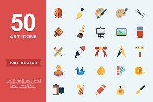 Flat Icons Art Set