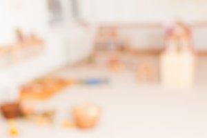 Blurred Kindergarten classroom school background