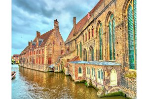 Traditional houses in Bruges, Belgium