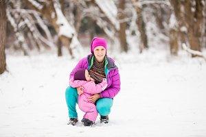 Breastfeeding toddler outdoor