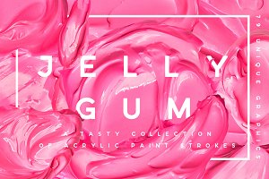 Jelly Gum | Cosmetic & Paint Strokes