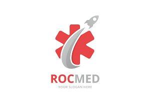 Vector ambulance and rocket logo