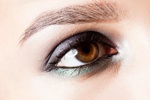brown eye fashion make-up