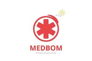 Vector ambulance and bomb logo