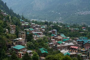 Town Nestled in the Himalayas