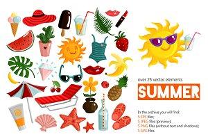 Summer Symbols Set