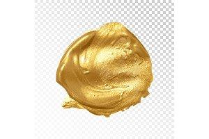 3 Gold acrylic spots