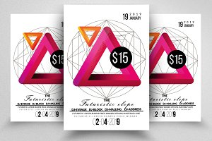 Futuristic Abstract Flyer Templates