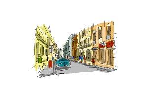 Street, sketch for your design