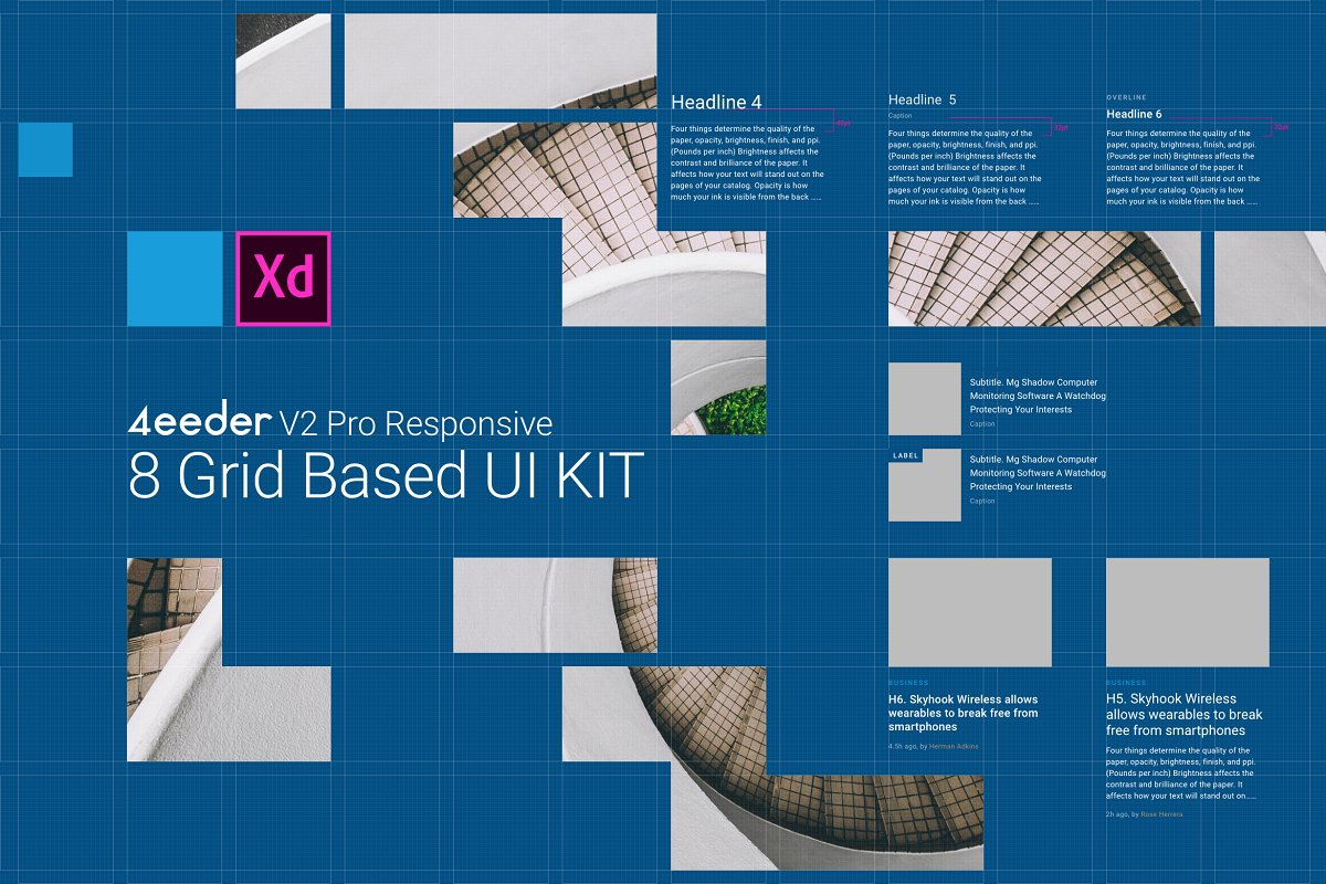 4eeder V2 Pro UI Kit for Adobe XD ~ UI Kits and Libraries
