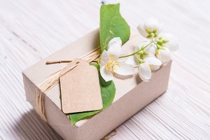 Brown Cardboard Gift Box