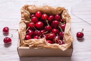 Cherry in Cardboard Gift Box