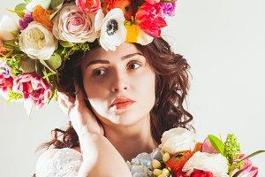 spring woman face