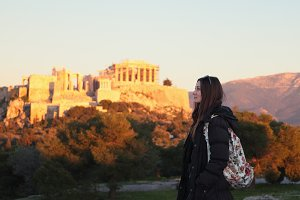 Girl in Athens.