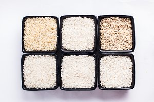 Various types of rice