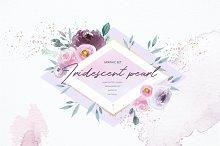 Iridescent pearl - graphic set