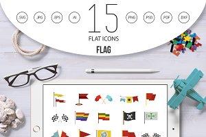 Flag icon set, flat style