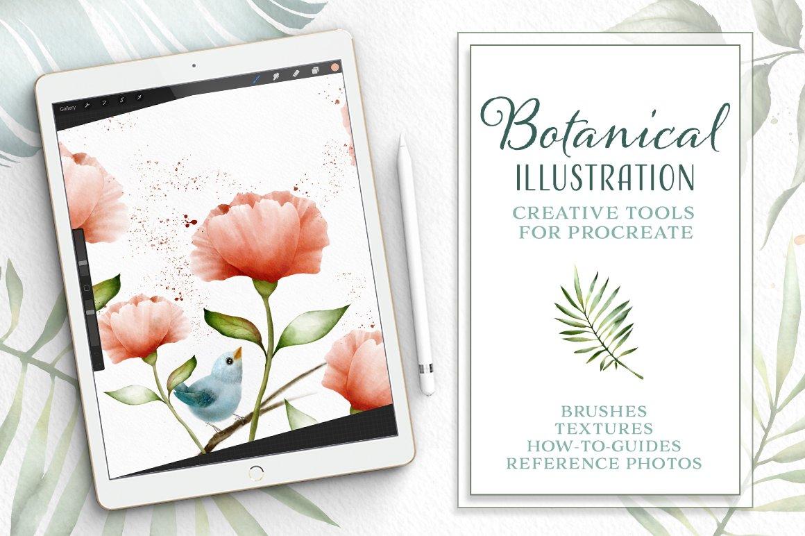 Procreate Watercolor Botanical Kit ~ Procreate Brushes