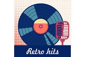 retro hits poster