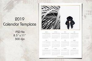 2019 Calendar Template 8.5x11