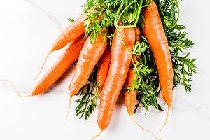 Fresh raw carrots