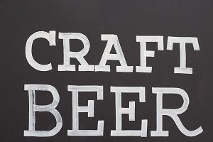 craft beer sign