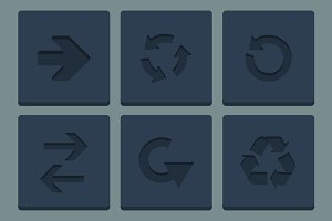 Flat Arrow Icons Set