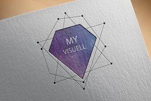 Logo Design Diamond Shape Business