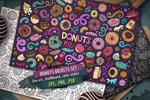 Donuts Objects & Elements Set