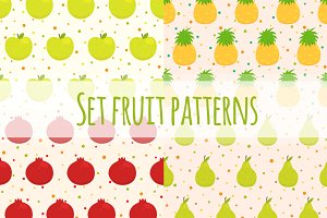 Set fruit patterns