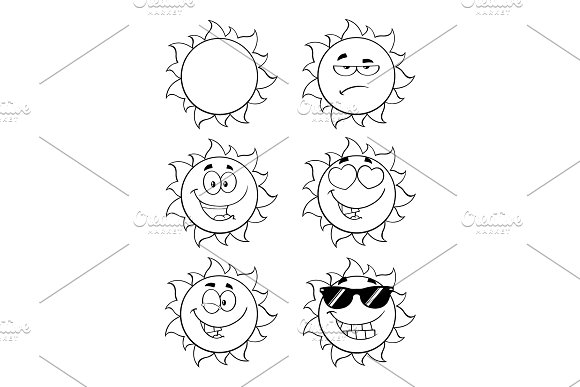 Black And White Sun Collection