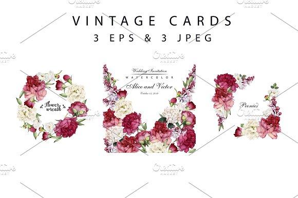 Vintage cards (VECTOR)