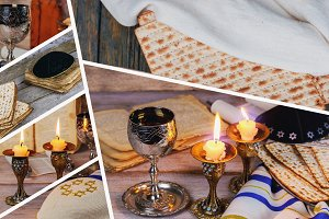 Sabbath kiddush matzah candelas