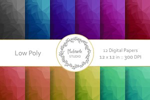 Low Poly digital paper
