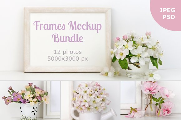 Download Picture Frames Mockup Bundle