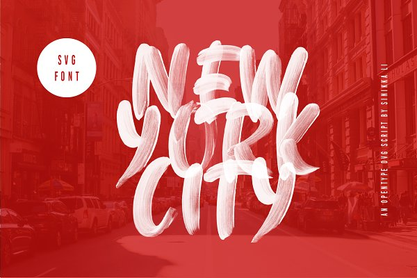 Display Fonts: Sinikka Li - New York City SVG FONT