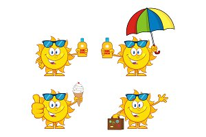 Sun Cartoon Character. Collection