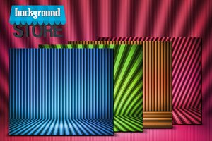 Stripes Show Room Background