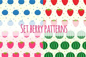 Set berry patterns