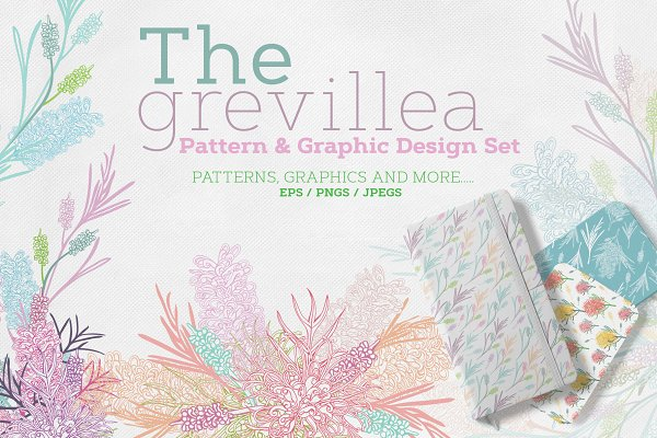 Illustrations and Illustration Products: Sketchbook Designs - The Grevillea Design Collection