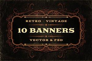 10 Retro/Vintage Banners